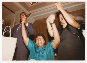 Primary view of object titled '[Barbara Jordan With a Man and a Woman]'.