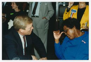 Primary view of object titled '[Portrait of Barbara Jordan and Dick Gephardt]'.