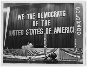 Primary view of object titled '[Barbara Jordan Speaks at Democratic National Committee]'.