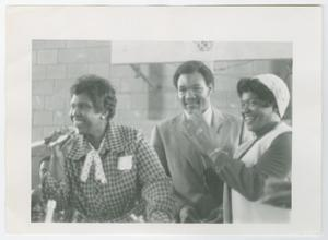 Primary view of object titled '[Barbara Jordan and George Foreman]'.