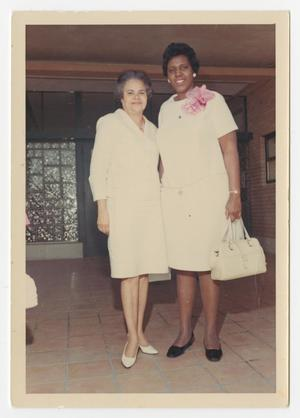 Primary view of object titled '[Portrait of Barbara Jordan and Mrs. Hattie White]'.