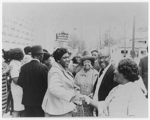 Primary view of object titled '[Barbara Jordan and Her Mom at Good Hope Baptist Church]'.