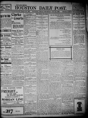 Primary view of The Houston Daily Post (Houston, Tex.), Vol. THIRTEENTH YEAR, No. 193, Ed. 1, Thursday, October 14, 1897