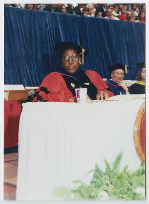 Primary view of object titled '[Barbara Jordan Being Awarded an Honorary Degree at University of Nebraska]'.