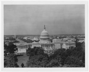 Primary view of object titled '[Aerial View of the United States Capitol Building]'.