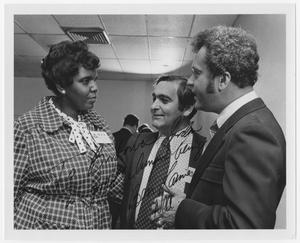 Primary view of object titled '[Barbara Jordan, Ben Lamie, and Bill Burke]'.