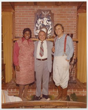 Primary view of object titled '[Portrait of Barbara Jordan, Bob Eckhardt, and an Unidentified Man]'.