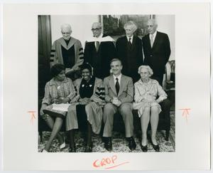 Primary view of object titled '[Barbara Jordan With Faculty of Harvard University]'.