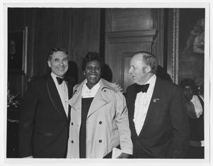 Primary view of object titled '[Portrait of Barbara Jordan and Two Unidentified Men]'.