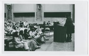 Primary view of object titled '[Barbara Jordan Speaks to a Classroom Full of Students]'.