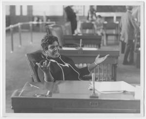 Primary view of object titled '[Barbara Jordan in Texas Senate Chambers]'.