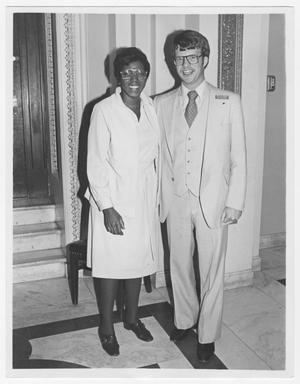 Primary view of object titled '[Portrait of Barbara Jordan and an Unidentified Gentleman]'.