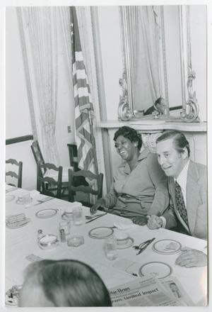 Primary view of object titled '[Barbara Jordan and Lloyd Bensten]'.