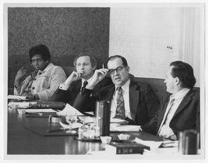 Primary view of object titled '[Barbara Jordan at a Round Table Discussion]'.