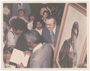 Primary view of object titled '[Barbara Jordan at the Unveiling of Her Portrait]'.