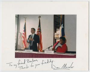 Primary view of object titled '[Barbara Jordan and Daniel Morales]'.