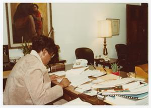 Primary view of object titled '[A View of Barbara Jordan's Congressional Office]'.