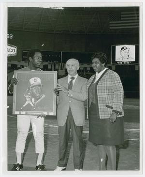 Primary view of object titled '[Barbara Jordan and Hank Aaron]'.