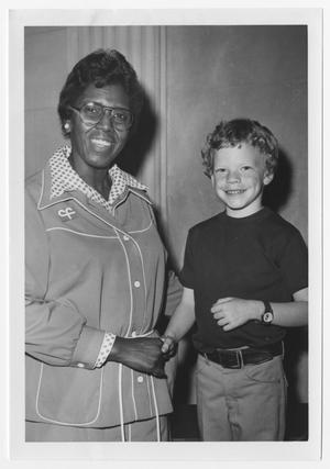 Primary view of object titled '[Portrait of Barbara Jordan and Rodney Brown]'.