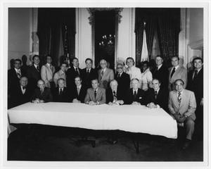 Primary view of object titled '[Portrait of an Undetermined Congressional Committee]'.