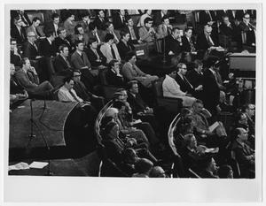 Primary view of object titled '[Members of Congress Meet for a Joint Session]'.
