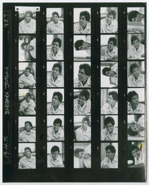 Primary view of object titled '[Contact Sheet of Barbara Jordan]'.