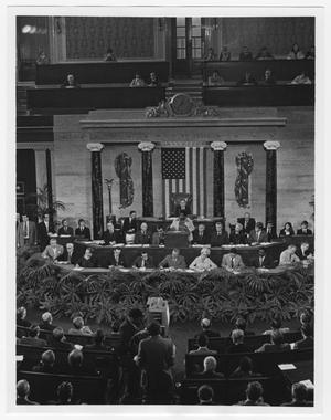 Primary view of object titled '[Barbara Jordan Speaks at the Bi-Centennial Celebration]'.