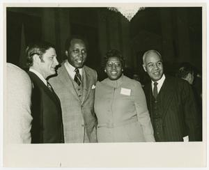 Primary view of object titled '[Portrait of Barbara Jordan With Three Unidentified Persons]'.