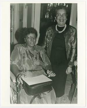 Primary view of object titled '[Portrait of Barbara Jordan and Marian Wright Edelman]'.