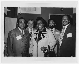 Primary view of object titled '[Portrait of Barbara Jordan and Four Men]'.