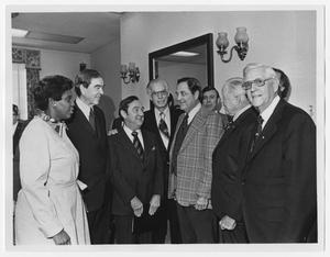 Primary view of object titled '[Barbara Jordan with Texas Congressional Delegation]'.