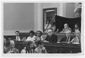 Primary view of object titled '[Members of the House Judiciary Committe Hear Arguments]'.