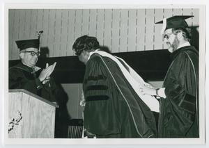 Primary view of object titled '[Barbara Jordan at the Keuka College Graduation Ceremony]'.