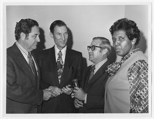 Primary view of object titled '[Barbara Jordan with Fellow Representatives]'.