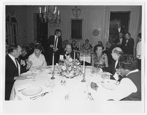 Primary view of object titled '[Barbara Jordan Attend a Reception]'.