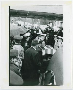 Primary view of object titled '[Barbara Jordan's Casket Being Delivered to Good Hope Baptist Church]'.