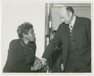 Primary view of object titled '[Barbara Jordan and Ed Koch]'.