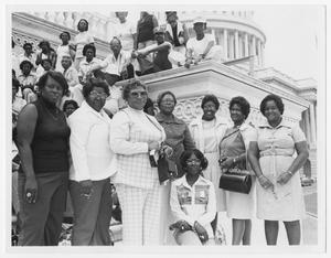 Primary view of object titled '[Portrait of Barbara Jordan and the Royal 20 Ladies and Friends]'.