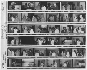Primary view of object titled '[Contact Sheet of Barbara Jordan at an Event]'.