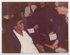 Primary view of object titled '[Barbara Jordan at the Brandeis University Commencement]'.