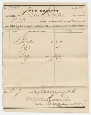[Real Estate Tax Receipt for David C. Dickson]