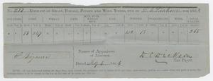 [Estimate of Taxes on Grain, Forage, Potato, and Wool for David C. Dickson]