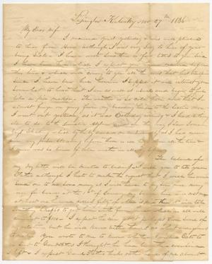 Primary view of object titled '[Letter from David C. Dickson to his wife - November 27, 1836]'.