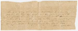 [Letter from David C. Dickson - February 6, 1843]
