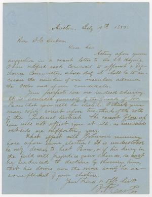 Primary view of [Letter from B. H. Carter to David C. Dickson - July 4, 1855]