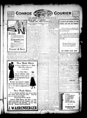 Primary view of object titled 'Conroe Courier (Conroe, Tex.), Vol. 25, No. 27, Ed. 1 Thursday, June 14, 1917'.