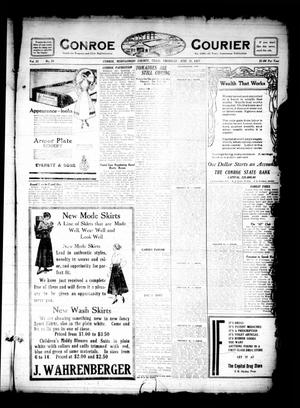Primary view of object titled 'Conroe Courier (Conroe, Tex.), Vol. 25, No. 28, Ed. 1 Thursday, June 21, 1917'.