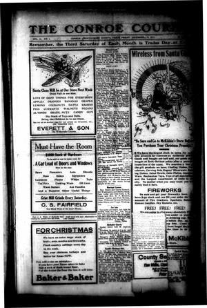 Primary view of object titled 'The Conroe Courier. (Conroe, Tex.), Vol. 20, No. 2, Ed. 1 Friday, December 15, 1911'.