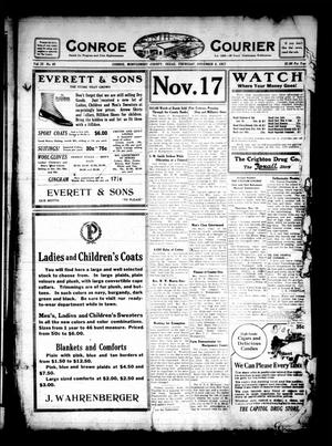 Primary view of object titled 'Conroe Courier (Conroe, Tex.), Vol. 25, No. 48, Ed. 1 Thursday, November 8, 1917'.
