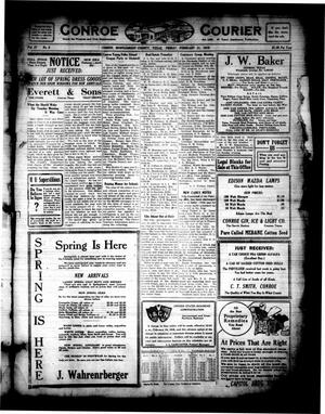 Primary view of object titled 'Conroe Courier (Conroe, Tex.), Vol. 27, No. 9, Ed. 1 Friday, February 21, 1919'.